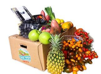 כ-19 קילו פירות וירקות במשלוח