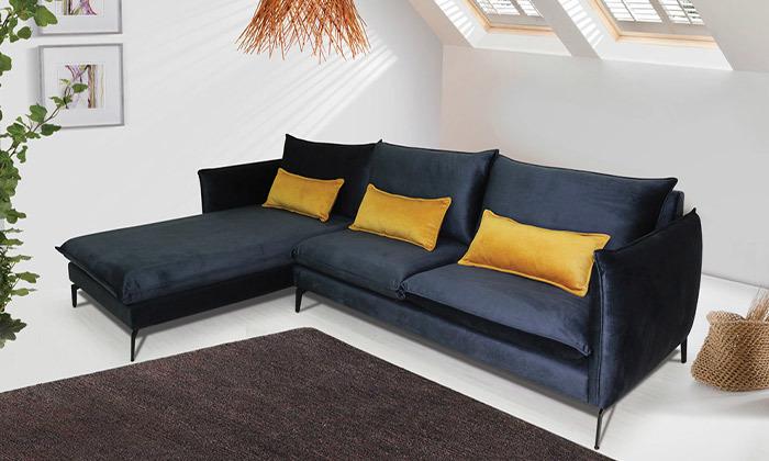 2 ספה פינתית גדולה עם שזלונג של Or Design, דגם מימוזה