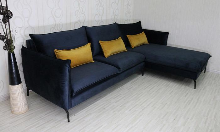 4 ספה פינתית גדולה עם שזלונג של Or Design, דגם מימוזה