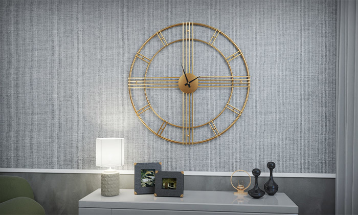 2 שעון קיר עגול גדול של RAZCO