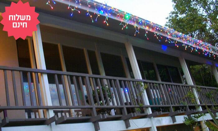 6 שרשרת נורות LED סולאריות אקולוגיות, משלוח חינם