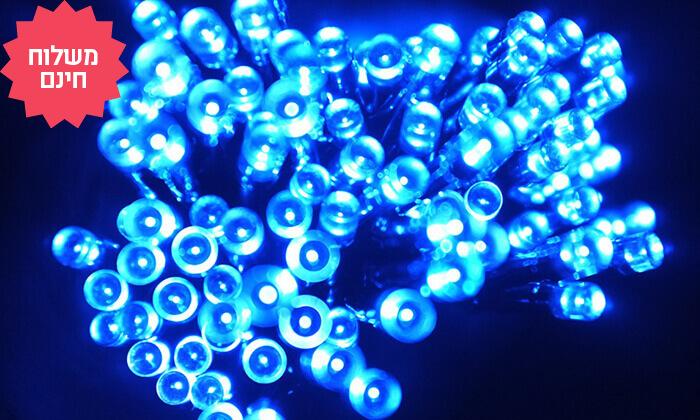 7 שרשרת נורות LED סולאריות אקולוגיות, משלוח חינם