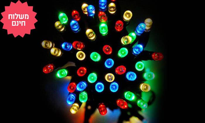 8 שרשרת נורות LED סולאריות אקולוגיות, משלוח חינם