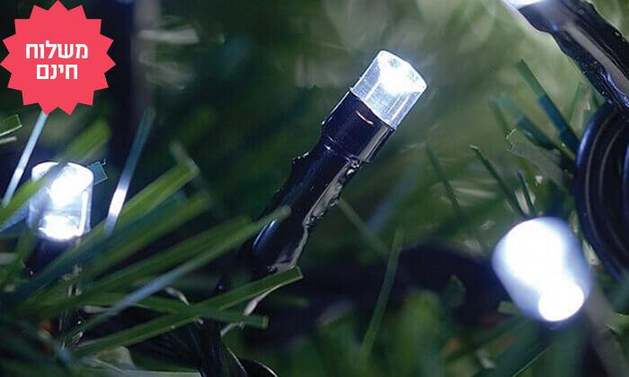 11 שרשרת נורות LED סולאריות אקולוגיות, משלוח חינם