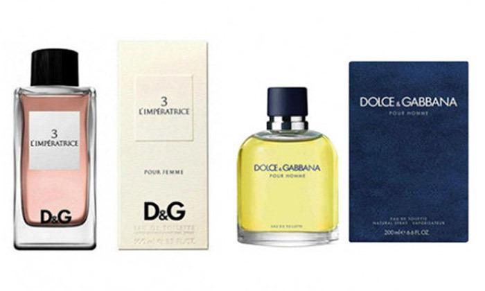 2 בושם לאישה ולגברDolce & Gabbana לבחירה