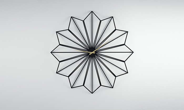 2 שעון קיר ענק בצורת פרח של Razco