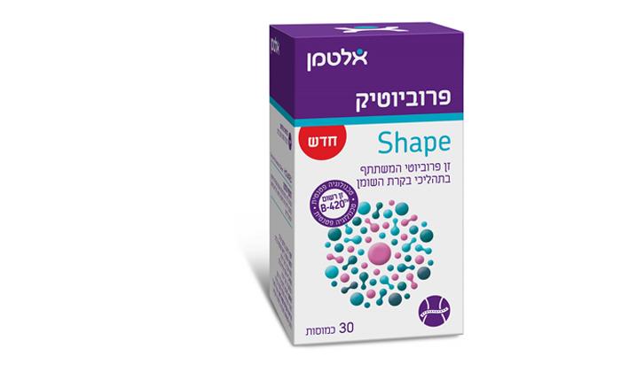 2 תוספי התזונה של אלטמן: 30 כמוסות פרוביוטיק שייפ SHAPE