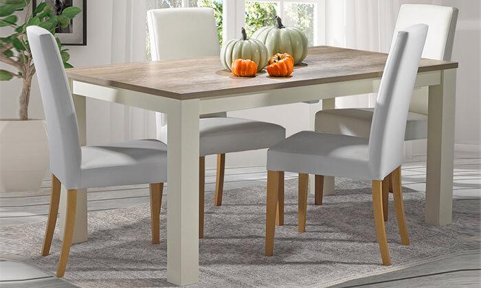 3 שולחן אוכל נפתח של ביתילי דגם בונטון, משלוח חינם