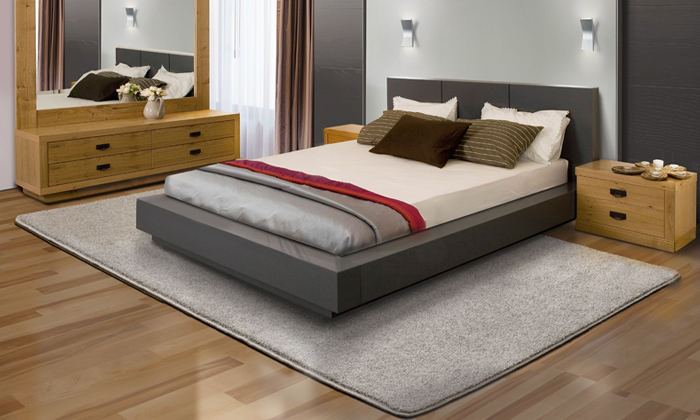 3 ביתילי: שטיח קרלטון אפור בגודל לבחירה
