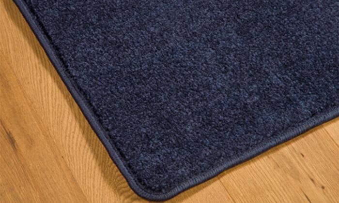 3 ביתילי: שטיח קרלטון כחול בגודל לבחירה - משלוח חינם