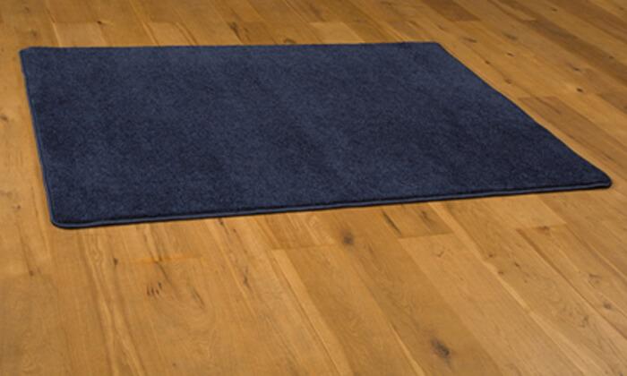 4 ביתילי: שטיח קרלטון כחול בגודל לבחירה - משלוח חינם