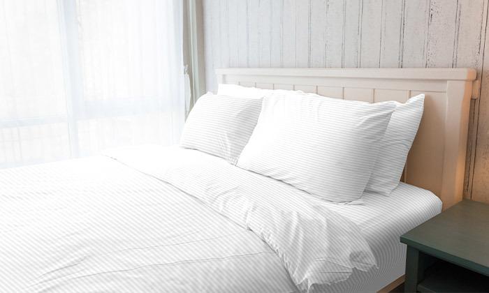 3 סט מצעי סאטן למיטה זוגית 100% כותנה hotel collection