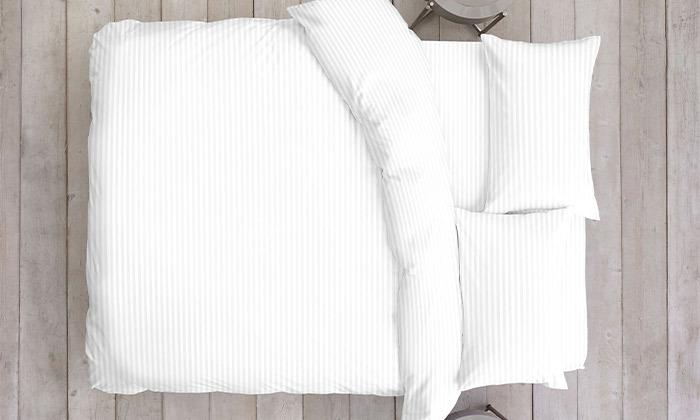 4 סט מצעי סאטן למיטה זוגית 100% כותנה hotel collection