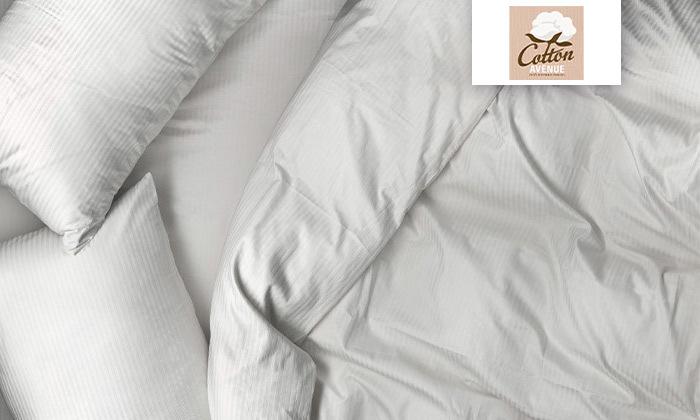 2 סט מצעי סאטן למיטה זוגית 100% כותנה hotel collection