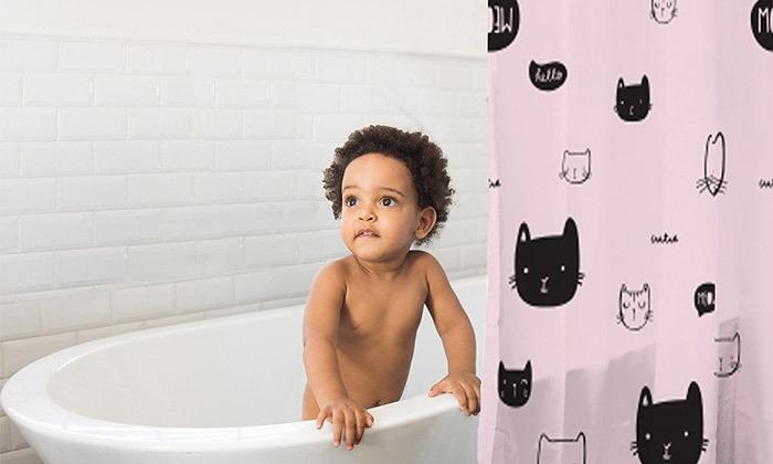 4 וילון אמבטיה מעוצב של מיננה MINENE
