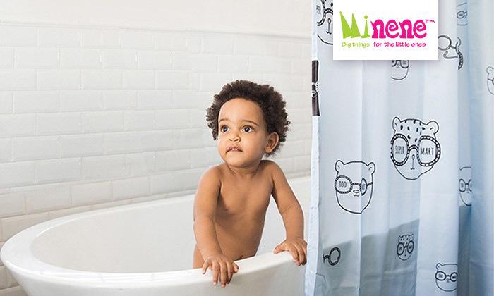 2 וילון אמבטיה מעוצב של מיננה MINENE