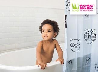 וילון אמבטיה מעוצב מיננה