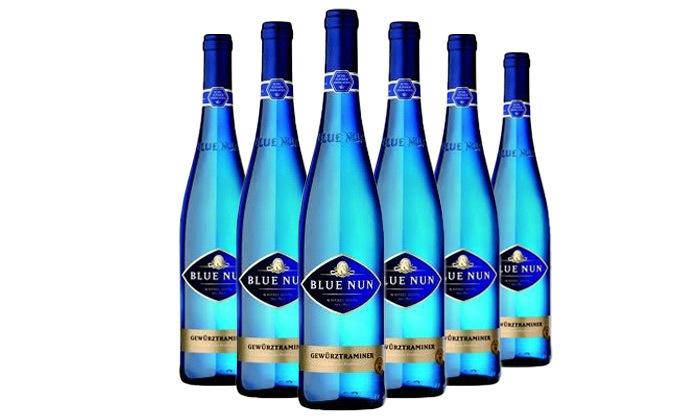4 6 בקבוקי יין גוורצטרמינר בלו נאן במשלוח חינם, רשת שר המשקאות
