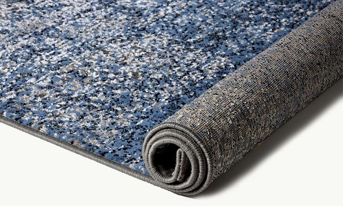 3 ביתילי: שטיח אקווארל בגווני אפור-כסוף, משלוח חינם