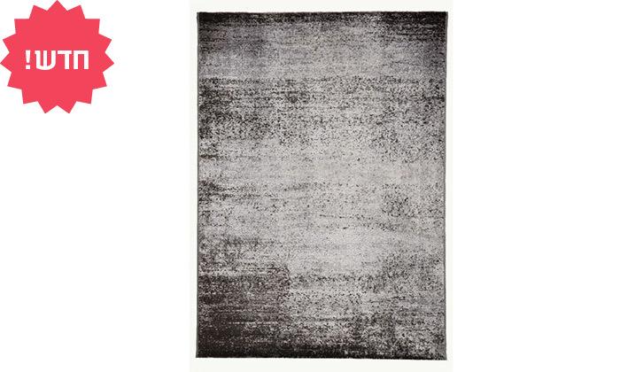 6 ביתילי: שטיח אקווארל בגווני אפור-כסוף, משלוח חינם