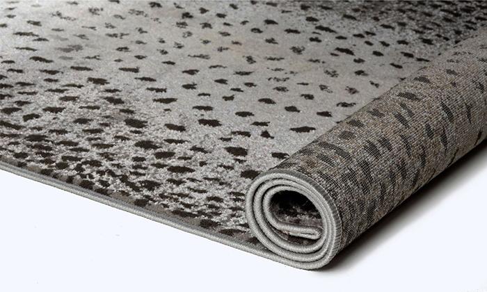 4 ביתילי: שטיח אקווארל בגווני אפור-כסוף, משלוח חינם