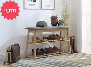 ספסל ישיבה לאחסון נעליים 4065