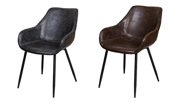 2 כיסא מרופד SUN DESIGN HOME דגם 1943