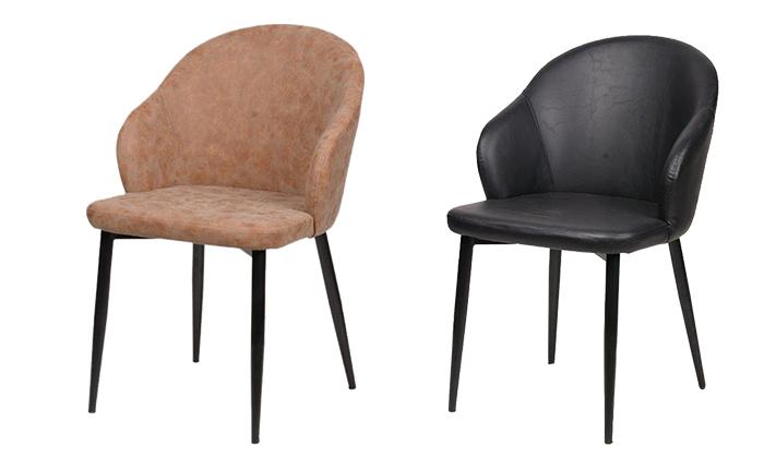 2 כיסא מרופד SUN DESIGN HOME דגם 1712