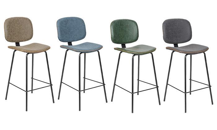 2 כיסא בר מרופד SUN DESIGN HOME דגם 5397B