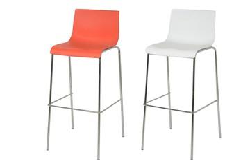 כיסא בר עם מושב לבן או אדום