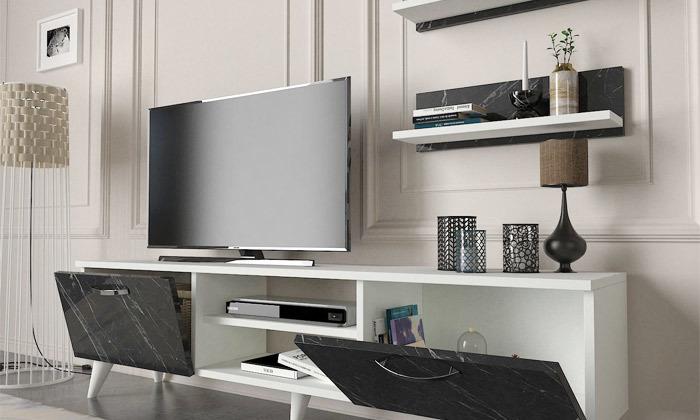 5 מזנון טלוויזיה דגם MARBLE