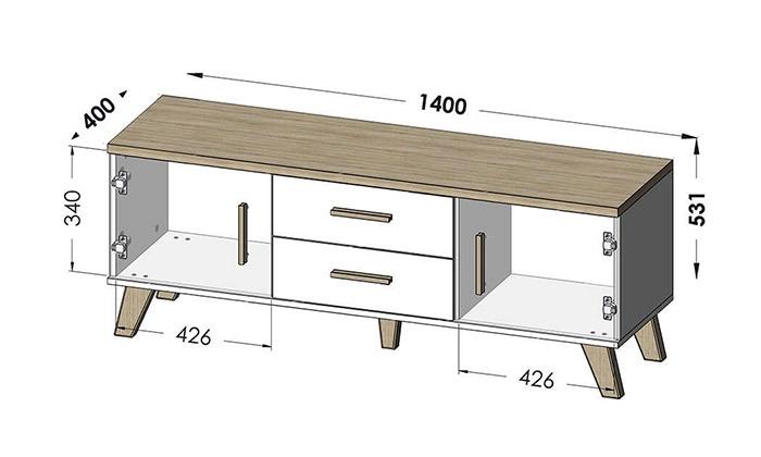 4 סט מזנון ושולחן סלון של שמרת הזורע