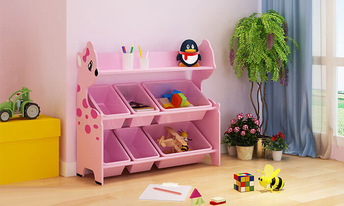 4 ארגונית צעצועים לחדר ילדים