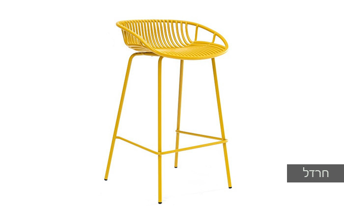 4 כיסא בר מפלסטיק בעל משענת נמוכה