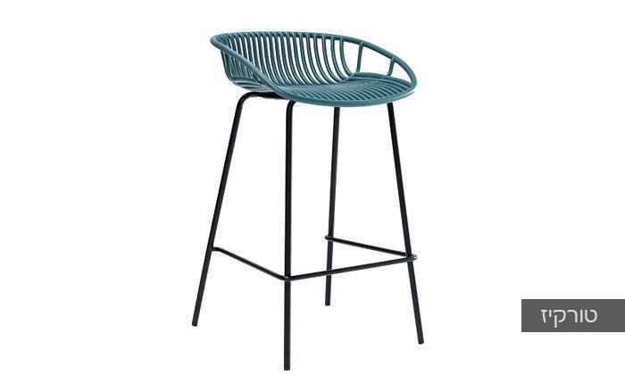 5 כיסא בר מפלסטיק בעל משענת נמוכה