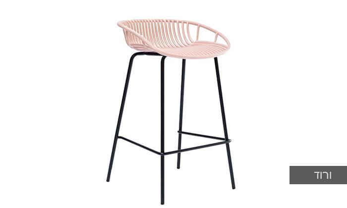 7 כיסא בר מפלסטיק בעל משענת נמוכה