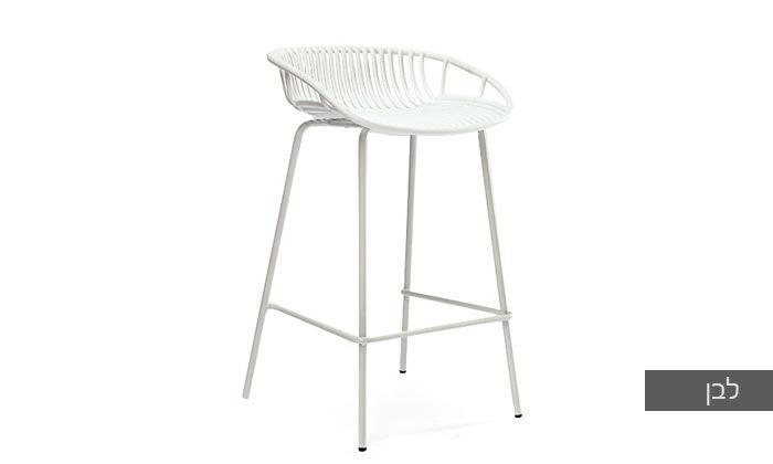 8 כיסא בר מפלסטיק בעל משענת נמוכה