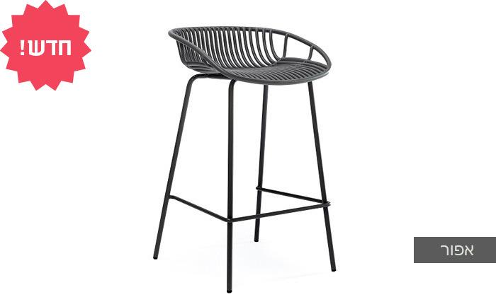 6 כיסא בר מפלסטיק בעל משענת נמוכה