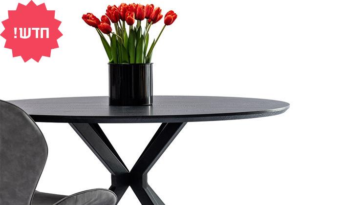 4 שולחן עץ עגול לשישה סועדים