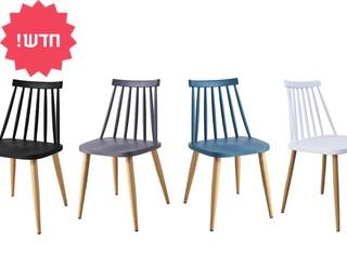 כיסא אוכל בעל מושב פלסטיק