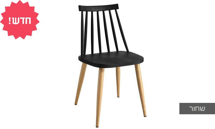 4 כיסא אוכל בעל מושב פלסטיק