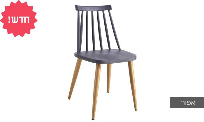 6 כיסא אוכל בעל מושב פלסטיק