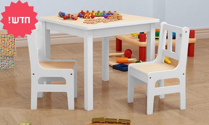 2 סט שולחן ושני כיסאות לחדר ילדים