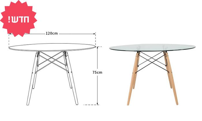 5 שולחן אוכל עגול דגם דה וינצ'י