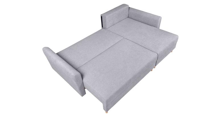 4 ספה פינתית נפתחת עם שזלונג, דגם פלורנס של שמרת הזורע