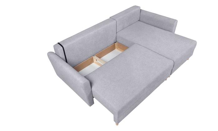 5 ספה פינתית נפתחת עם שזלונג, דגם פלורנס של שמרת הזורע