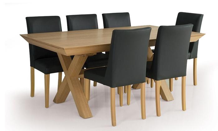 3 פינת אוכל נפתחת עם 6 כיסאות דגם אולימפוס, שמרת הזורע
