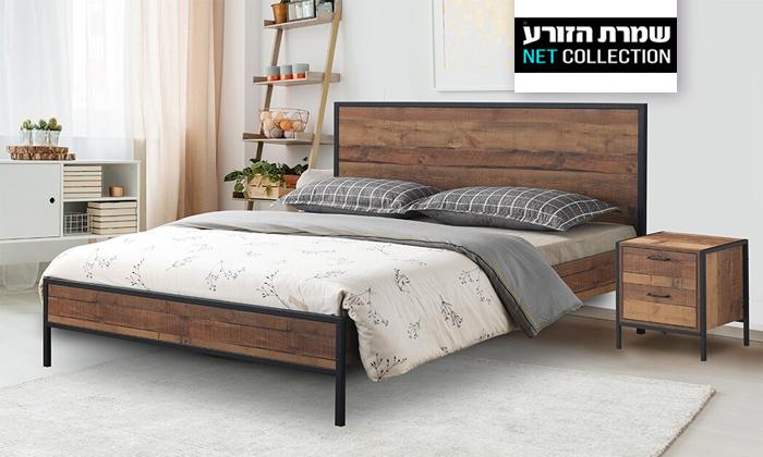 2 מיטה זוגית דגם קריסטל של שמרת הזורע - מגוון גדלים לבחירה