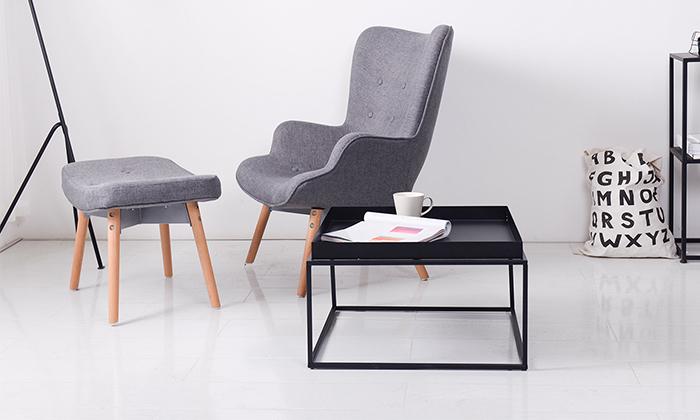 3 שולחן סלון מרובע ממתכת