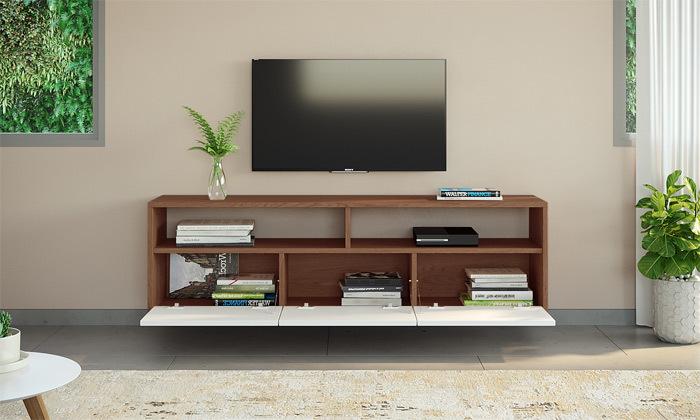 5 סט מזנון טלוויזיה ושולחן סלון